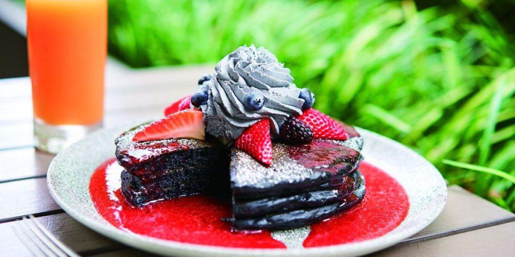 竹炭のパンケーキ